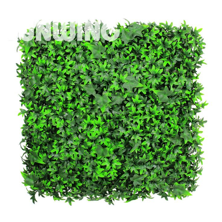 1 SQM Artificial Garden Green Leaves Fence Decorative Hedges Wall Plastic Topiary Boxwood Ivy Fence for garden decoration