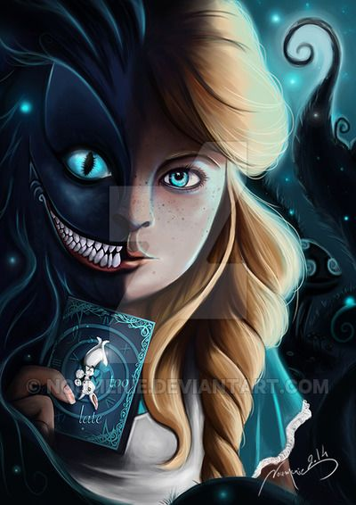 Alice And Cheshire Cat by Noumenie on DeviantArt