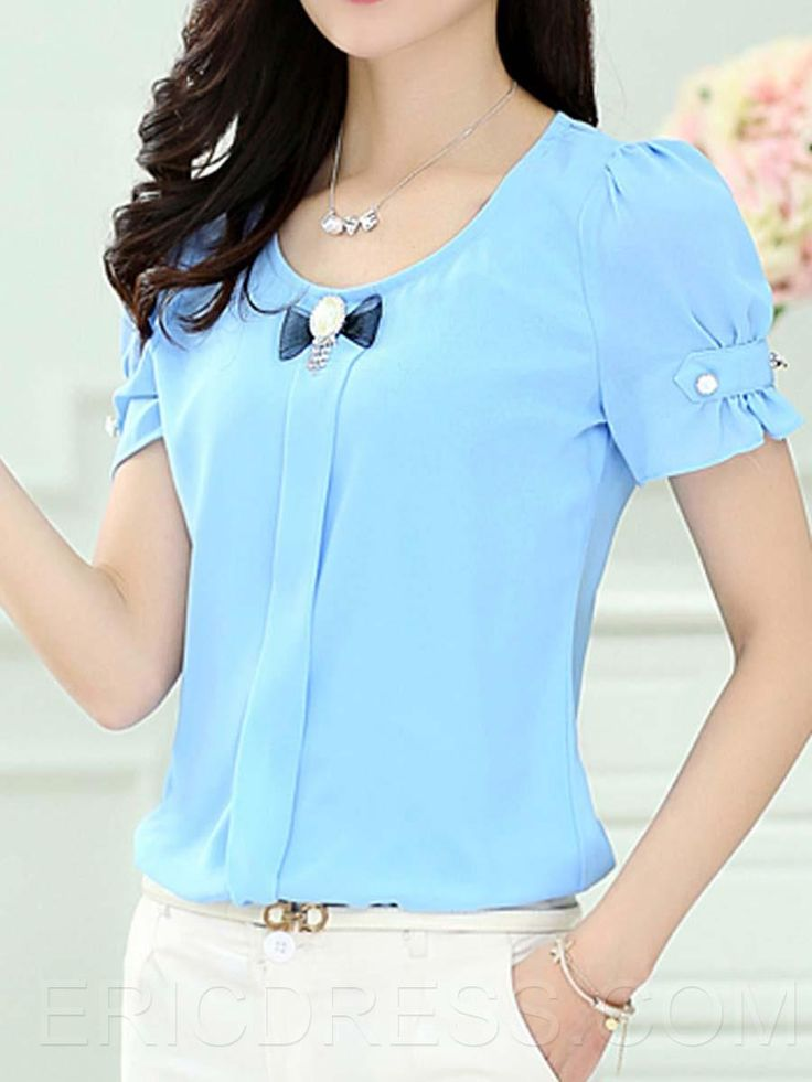 $ 19.49 Ericdress Raglan Sleeves Short Style Blouse