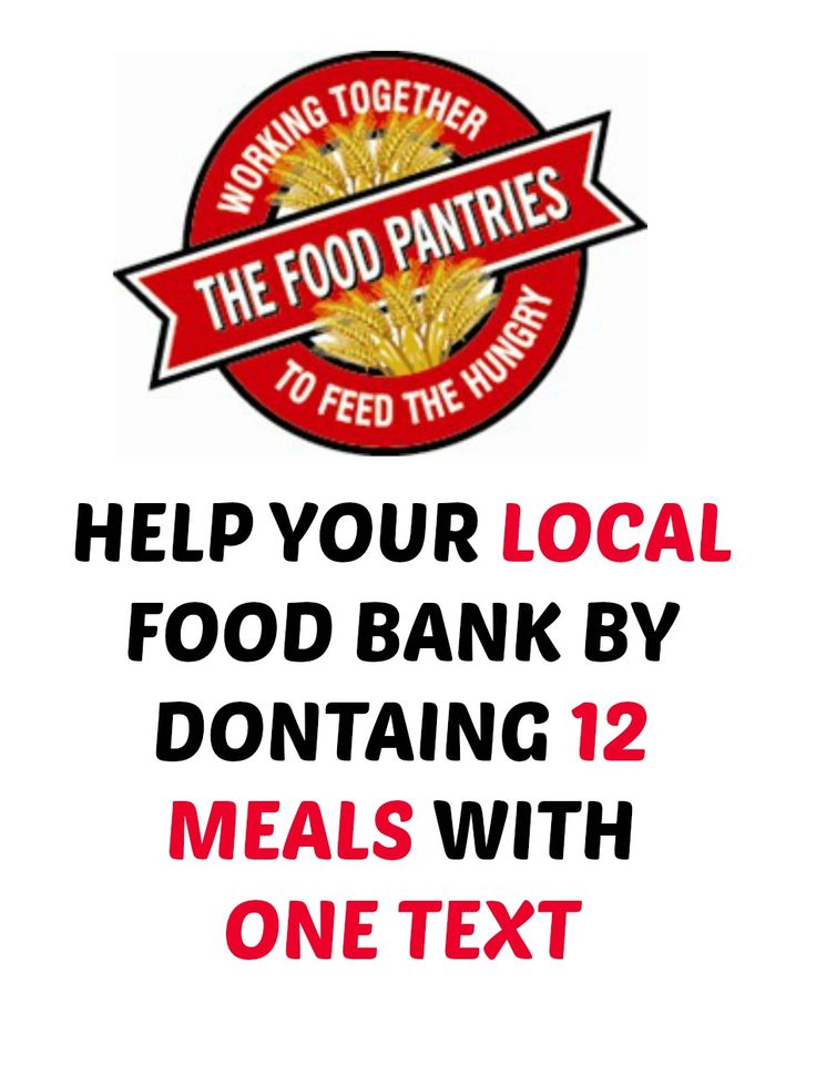 Donate 12 MEALS To Your Local Food Bank For Free With One Text!