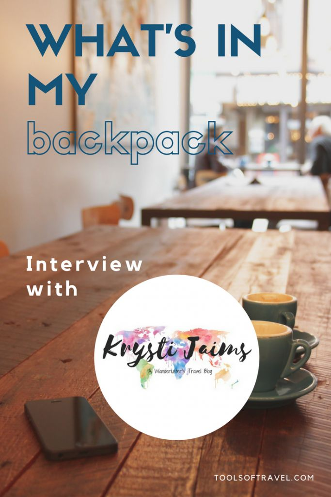 What's in My Backpack: Interview with Krysti Jaims