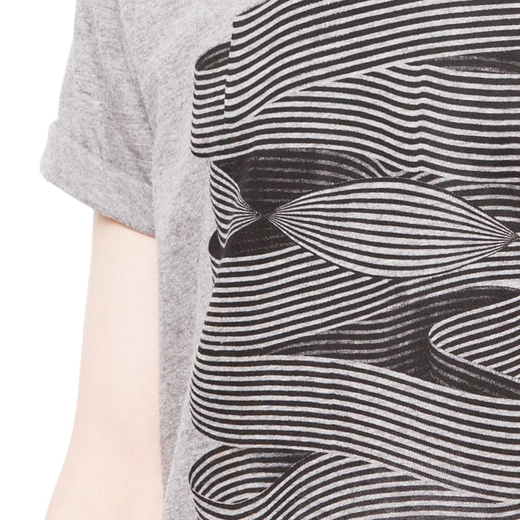 Mens' organic cotton T-shirt // Brody, with illustration by Santtu Mustonen