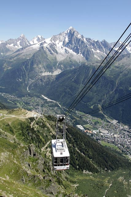 Chamonix Mont-Blanc in the French Alps. Rode these trams all the way over the Alps to Valle D' Aosta, Italy!