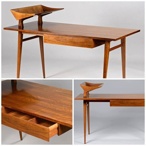 desk bertha schaefer for singer and sons mid century modern furniture have amazing stories to tell - Mid Century Modern Furniture Desk