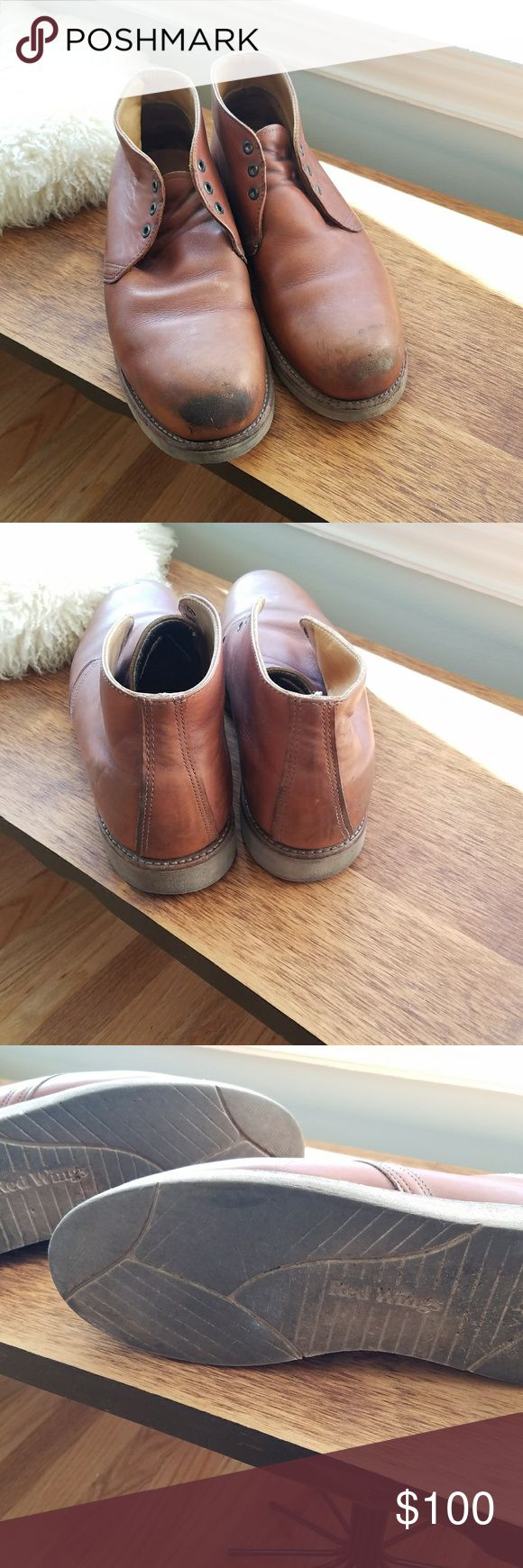 Men's RED WING Chukka Safety Toe Made in USA 11 Men's RED WING Chukka Made in USA 11D. Safety toe. Style 2595. Good condition. No laces. Red Wing Shoes Shoes Chukka Boots