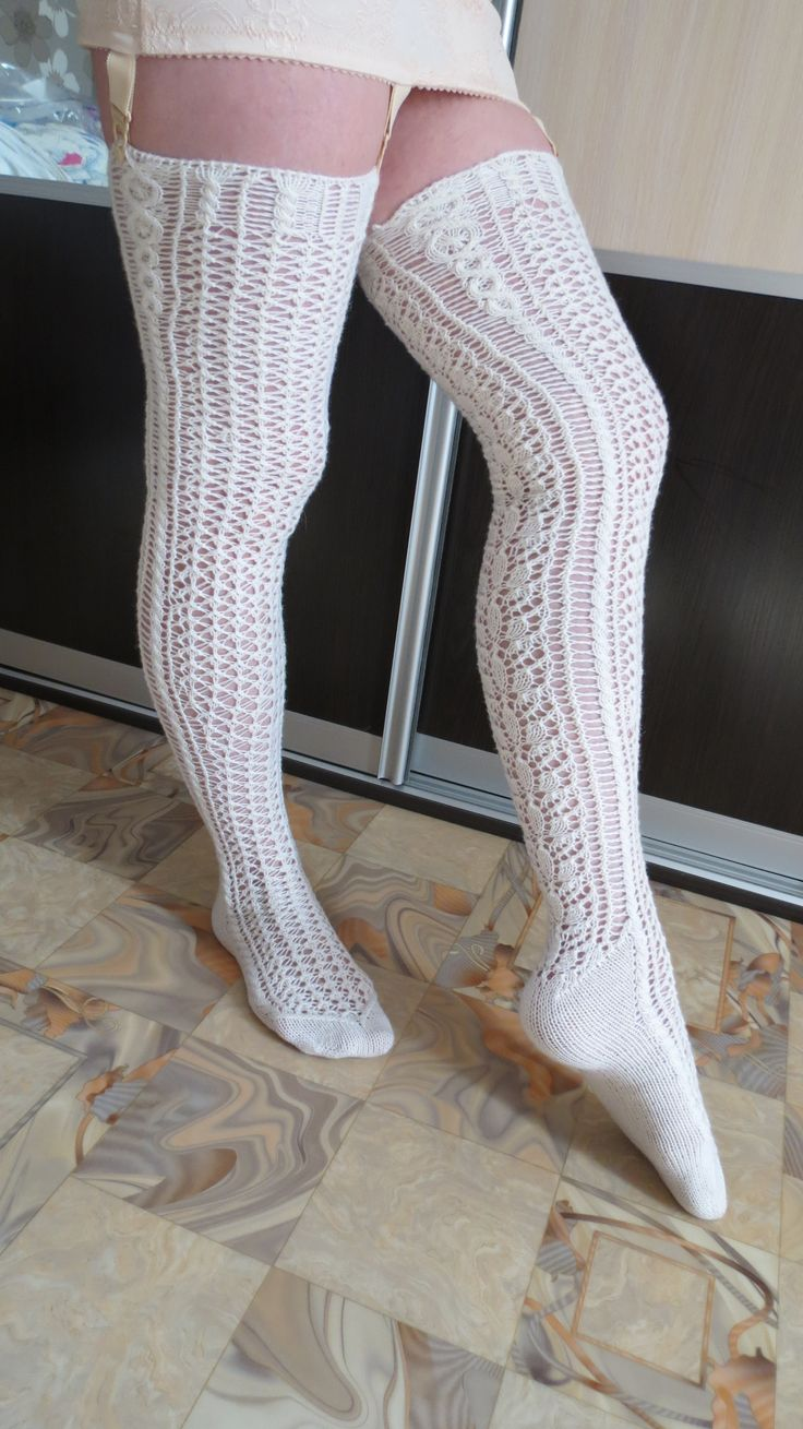 stockings from Vogue knitting