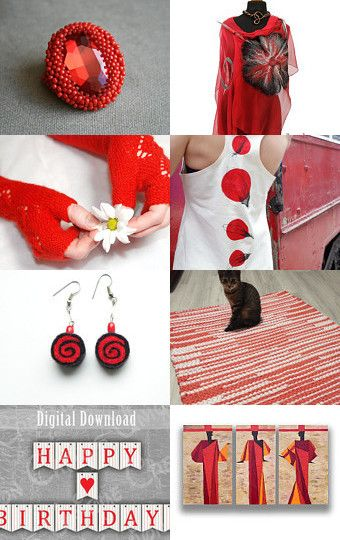 lady in red / thank you treasury by Bart BakaArt on Etsy--Pinned with…