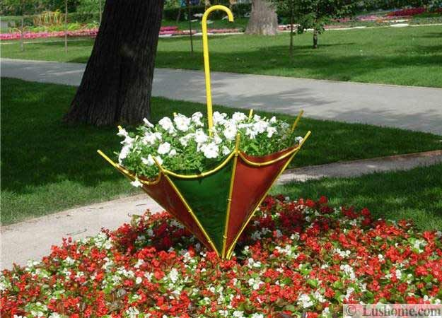 yard decorations, beautiful centerpieces for backyard designs