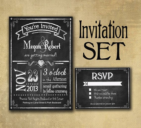 Chalkboard Wedding Invitations 003 - Chalkboard Wedding Invitations