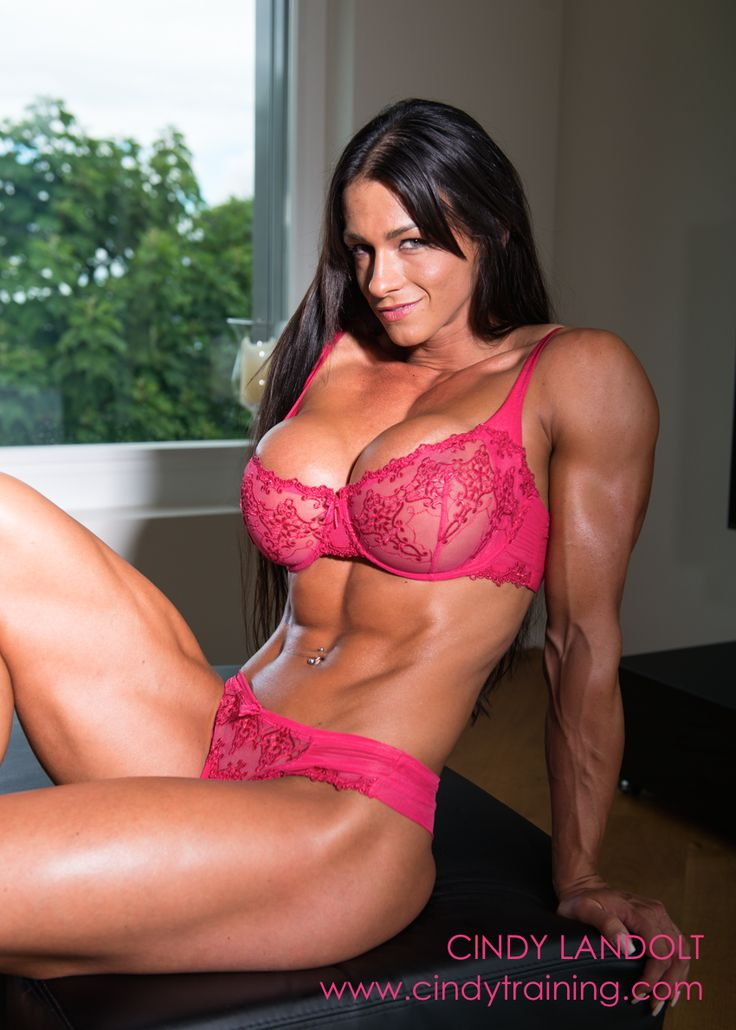 Busty babe muscle video