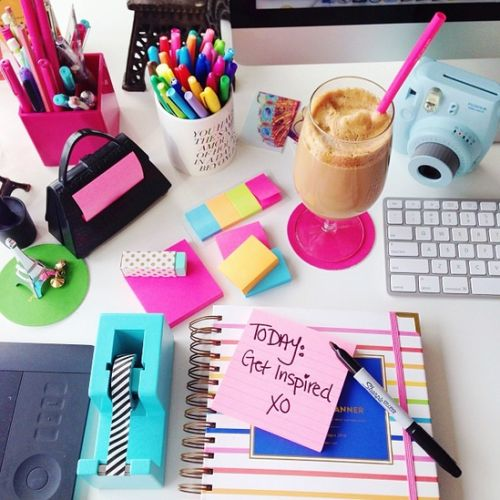 macbook, coffe and planner on desk - Google Search