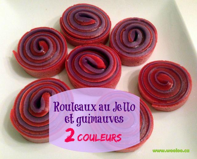Wooloo   Rouleaux Jello et guimauves 2 couleurs!!
