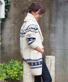 【WEB限定】○WO 15FW カウチン ニット ロング カーディガン / 別注  コラボ