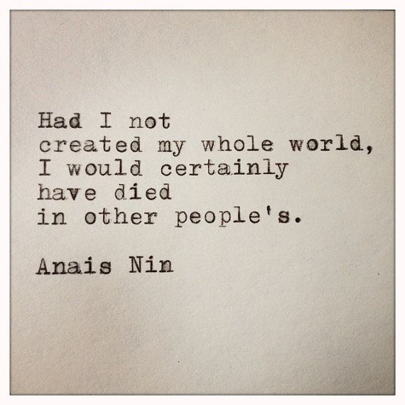 Anais Nin Quote Made on Typewriter and Framed by farmnflea on Etsy