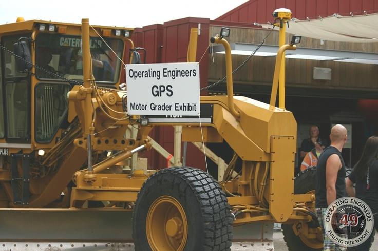 Grader w/ GPS on display