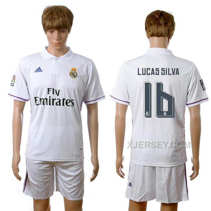 http://www.xjersey.com/201617-real-madrid-16-lucas-silva-home-jersey.html 2016-17 REAL MADRID 16 LUCAS SILVA HOME JERSEY Only $35.00 , Free Shipping!