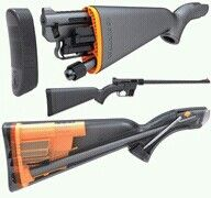 The ultimate outdoors at need gun. Easy to pack, floats, and will do the job on anything but dangerous game.