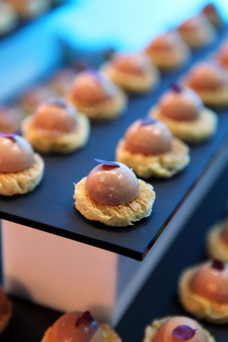 Chicken liver parfait with muscat jelly and toasted for Chicken canape ideas