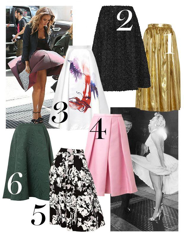 Wind Blown: 6 Skirts That Swing Just Right #skirts #midiskirts #marilynmonroe #fashion