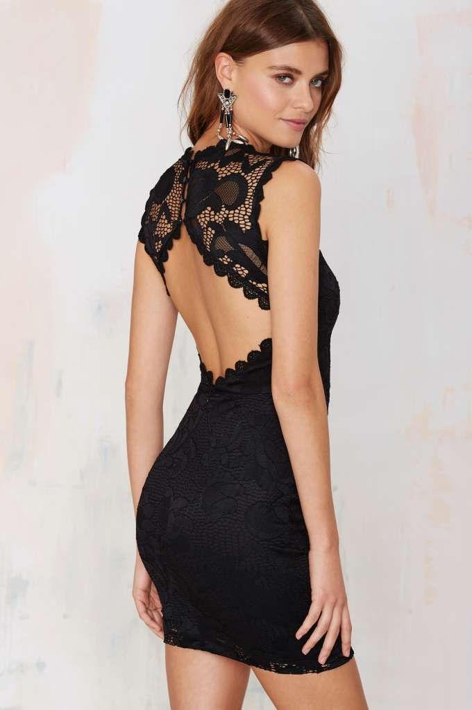 Nasty Gal Mandolay Lace Dress - LBD | Dresses