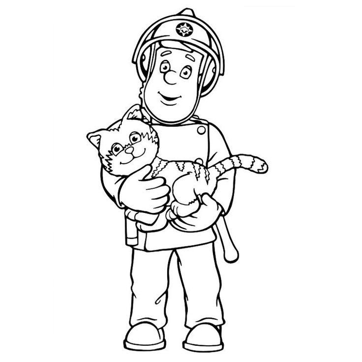 Coloriage Sam Le Pompier