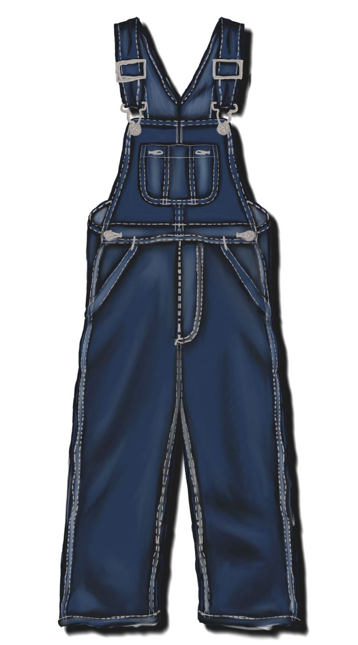 Salopette (Bib Overalls) da uomo, cartamodello in 4 misure differenti (48-50-52-54)
