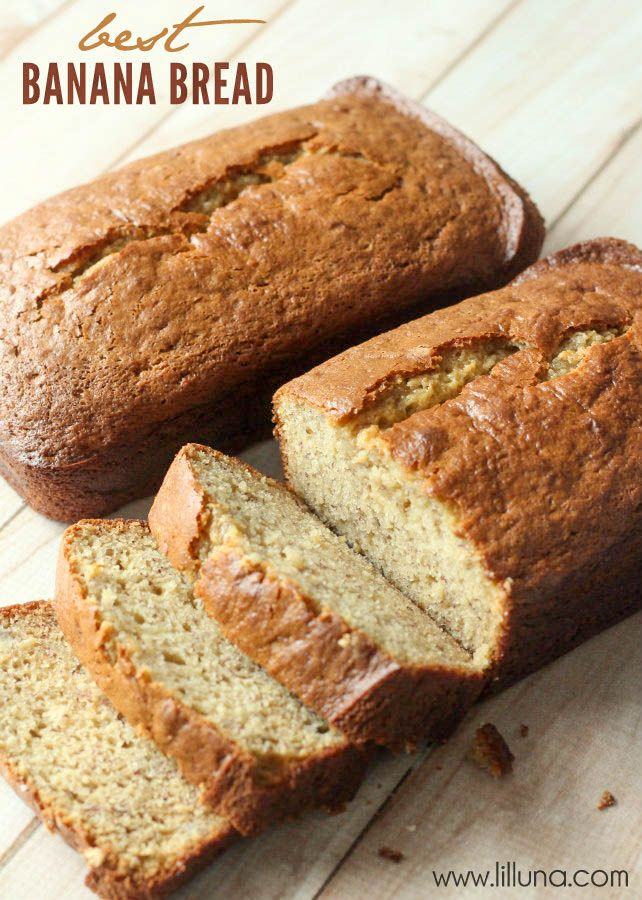 Best Banana Bread Recipe EVER! So yummy! #bananabread