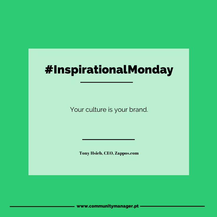 What's the best way to build a brand for the long term? In a word: culture.  #InspirationalMonday #MarketingQuotes