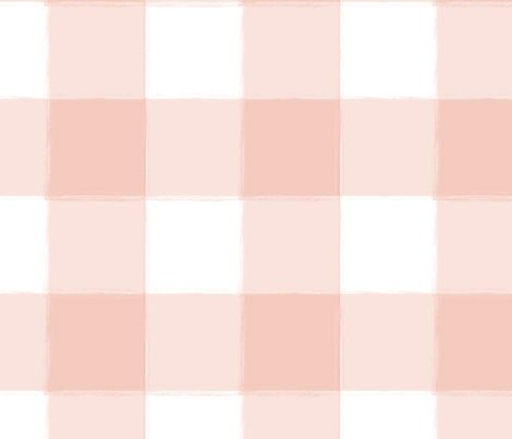 Blush Pink Buffalo Check Gingham fabric by sugarfresh on Spoonflower -  available as fabric, wallpaper and gift wrap