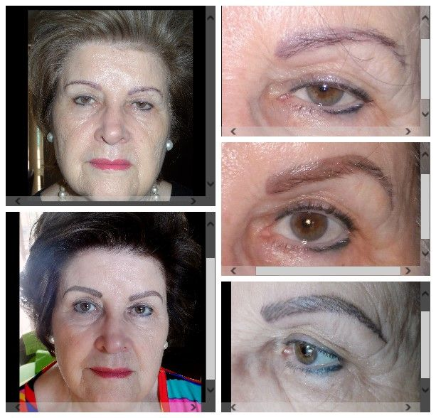 Correction of eyebrow colour & shape & bottom eyeliner. Then added hairstrokes. Vandrbijlpark - Marié Holtzhausen 083 692 2207