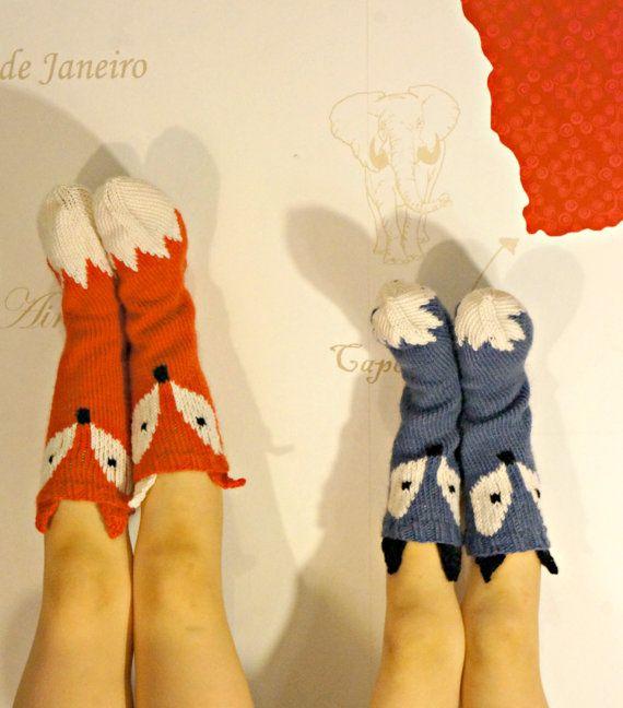 KNITTING PATTERN Little Foxy Socks by NorthStarKnitsOnEtsy