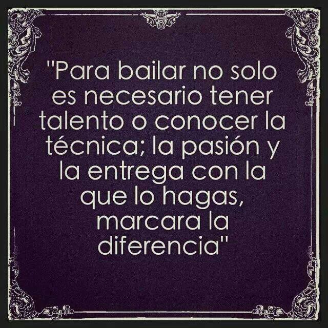 Baila con pasión...