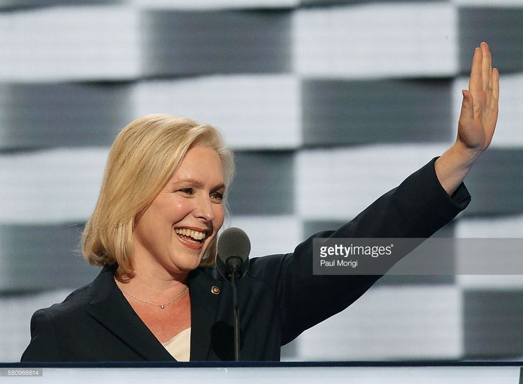 Sen. Kirsten Gillibrand (D-NY) delivers remarks on the first day of the Democratic National Convention at the Wells Fargo Center on July 25, 2016 in Philadelphia, Pennsylvania. An estimated 50,000 people are expected in Philadelphia, including hundreds of protesters and members of the media. The four-day Democratic National Convention kicked off July 25.