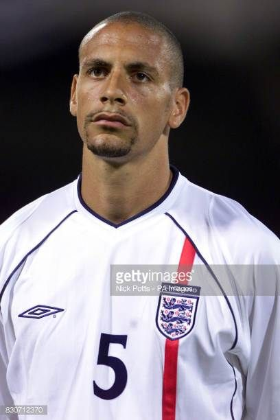 Rio Ferdinand lines up for England in Athens prior to the World Cup Qualifier against Greece THIS PICTURE CAN ONLY BE USED WITHIN THE CONTEXT OF AN...