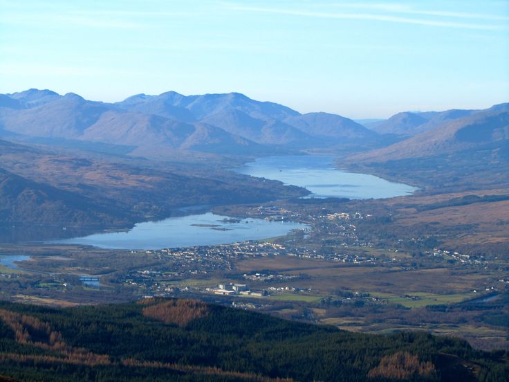 Scotland 2011 - a view of The Great Glen from the Nevis Range nr. Fort William.