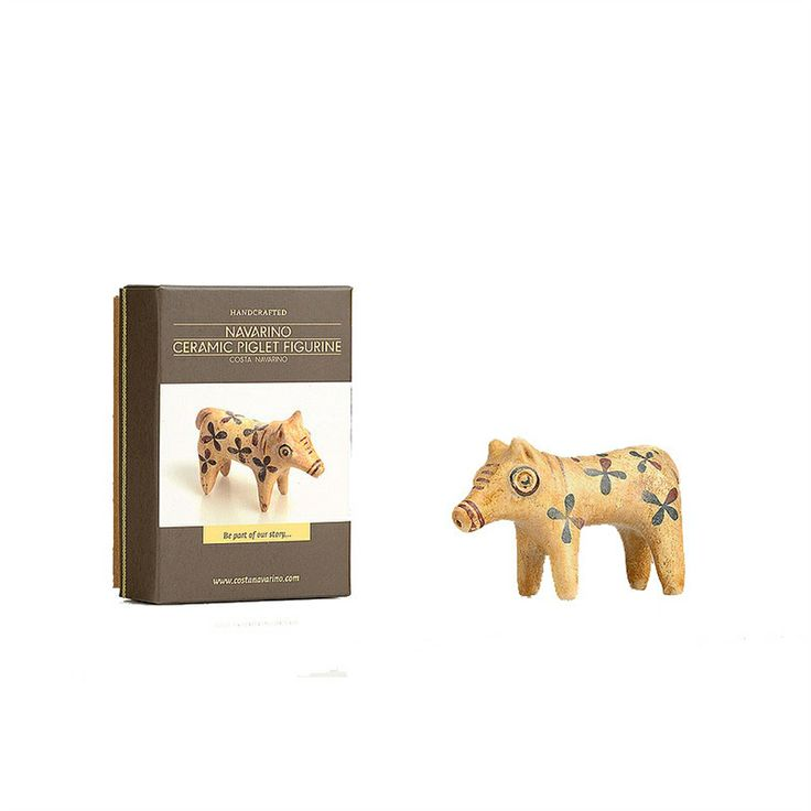 The love of animals in life and death was a very important aspect in the ancient Greek world. This ceramic piglet figurine was inspired by grave findings of the Mycenaean era, in the Peloponnese.
