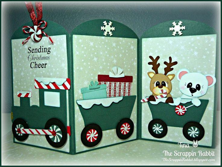 The Scrappin Rabbit: Holiday Train Tag Card