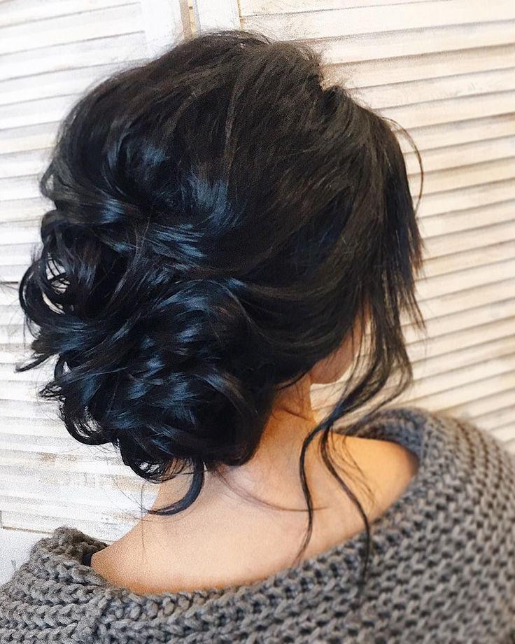 messy updo hairstyle ,swept back bridal hairstyle ,ulmm? hairstyles ,wedding hai...  - Saç güzelliği - #Bridal #güzelliği #hai #hairstyle #H