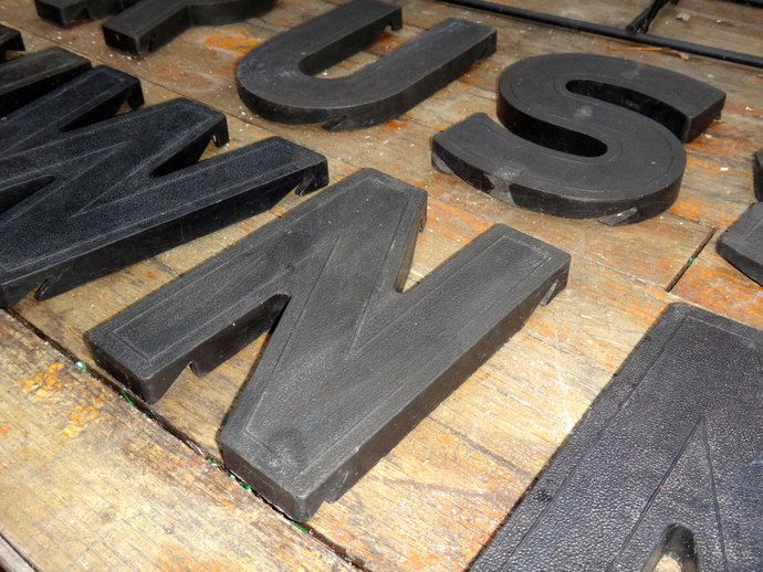 Man Cave, Industrial, Wall Letter, Marquee Letter, Letter N, Initial N, Billboard Letter, Alphabet, Steampunk, Maxs Uniquities, Dude Finds by CasaKarmaDecor, $13.75 USD