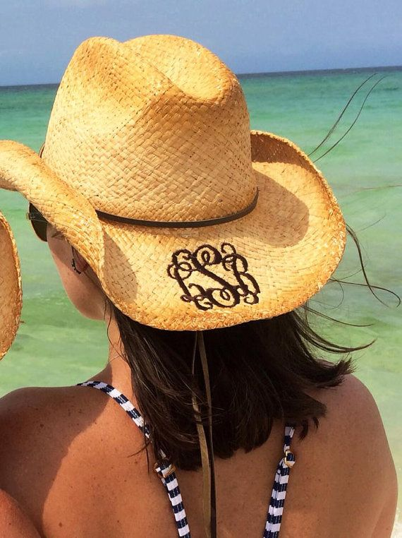Monogrammed Cowboy Hat by tinytulip on Etsy