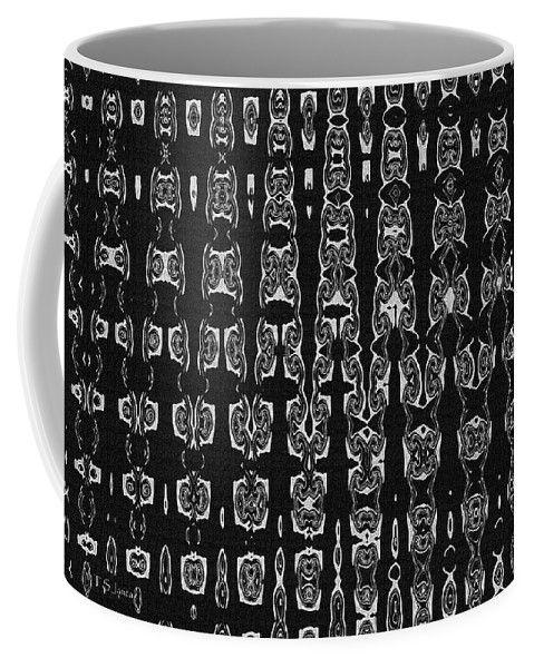 Totem Pole Masks Abstract Coffee Mug by Tom Janca.  Small (11 oz.)