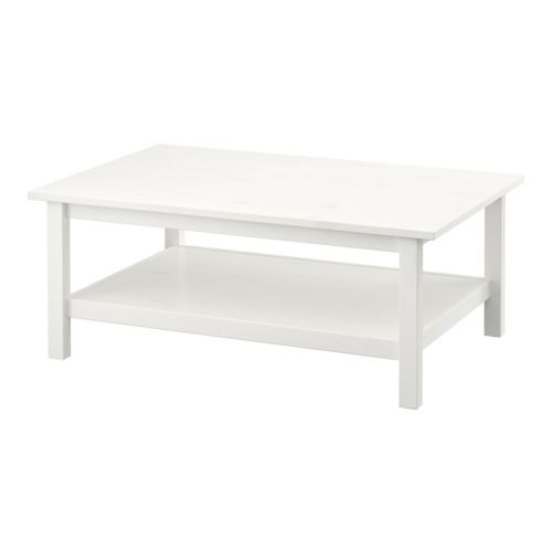 HEMNES Coffee table - white stain - IKEA: paint top purple or decorate with purple glass and cover with glass top