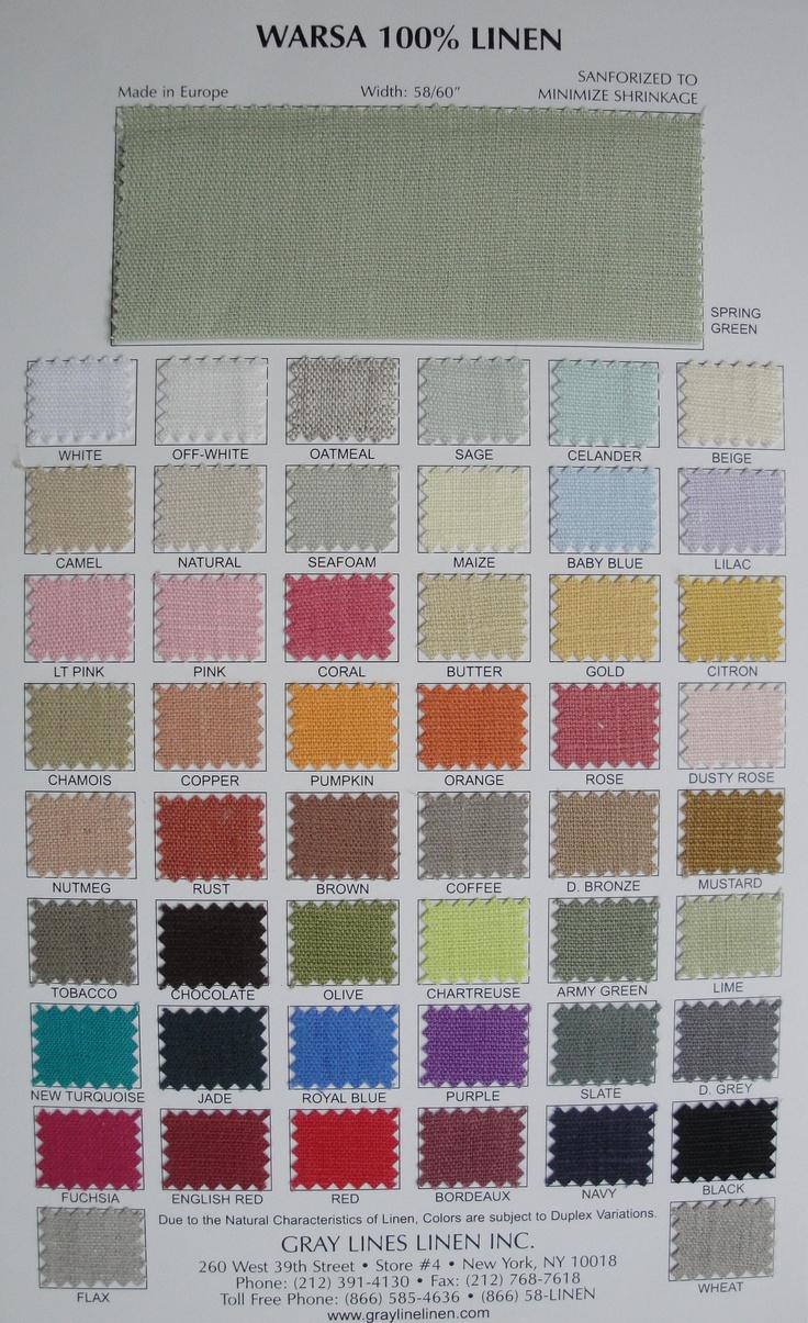 good source for linen | Warsa Color Card