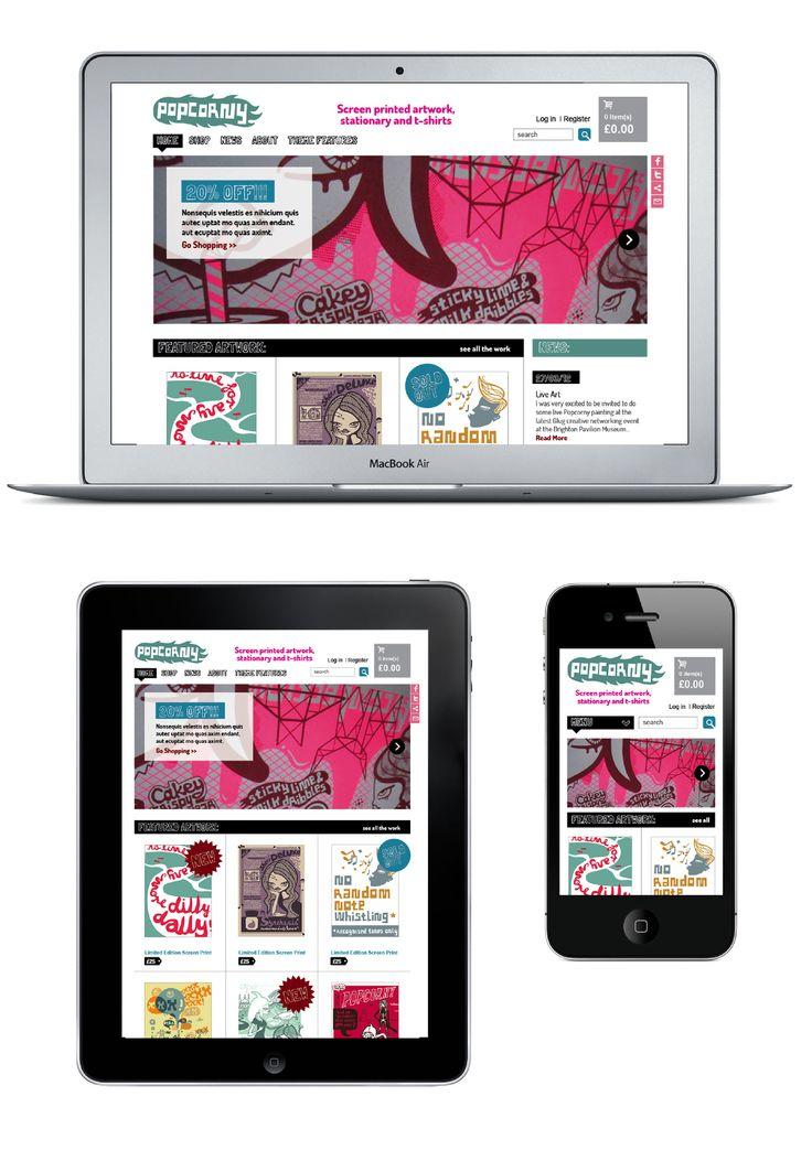 E-commerce site for PopCorny