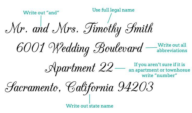 Addressing Wedding Invitation Etiquette: Best 25+ Addressing Wedding Invitations Ideas On Pinterest