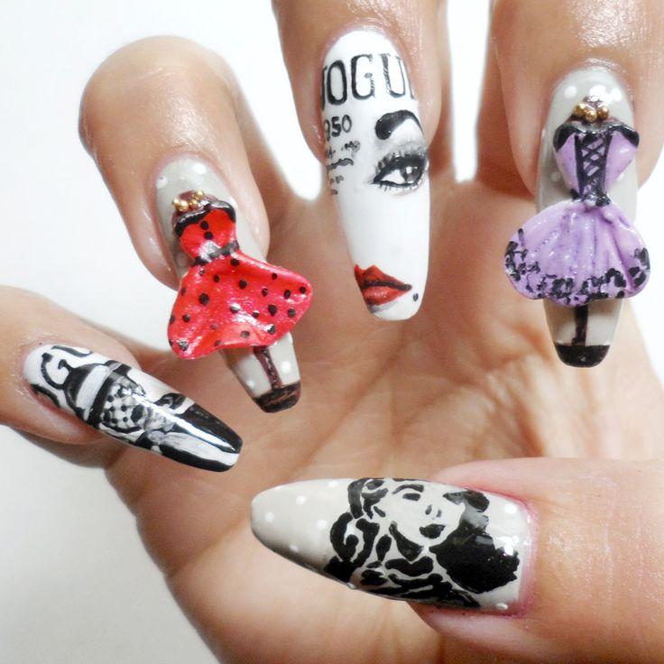 25 best Fantasy nails images on Pinterest | Alice in wonderland ...