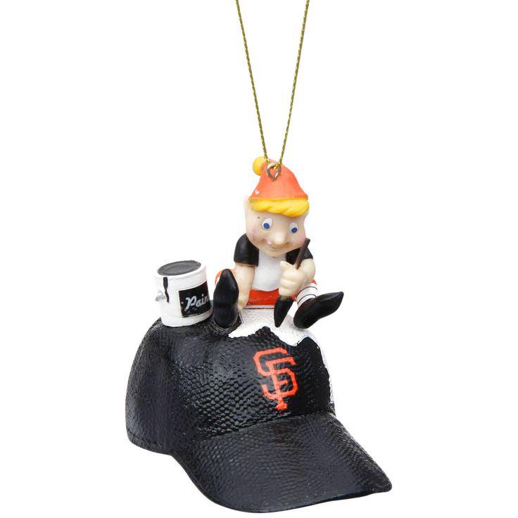 San Francisco Giants Team Painting Elf Ornament - $9.59