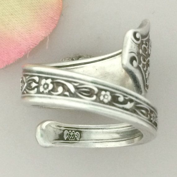 STERLING BEAUTY Silver Spoon Ring Size 8 13 Custom