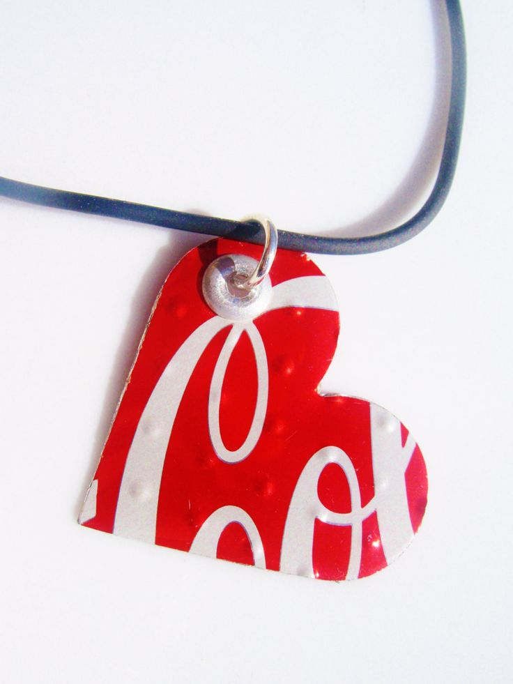Aluminum Can Heart Necklace