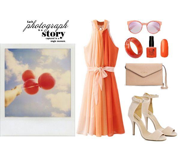 Лук с оранжевым платьем: с чем носить? look with  orange dress^ fashion